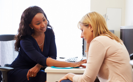 woman visiting her doctor for counselling
